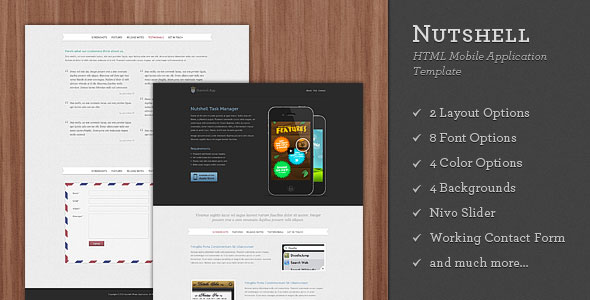 Nutshell App - HTML Mobile Application Template