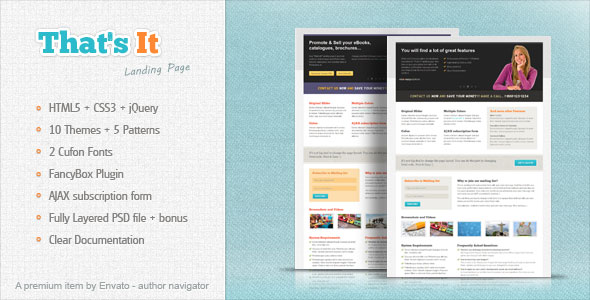 61 killer landing page html website templates template for Jquery landing page templates