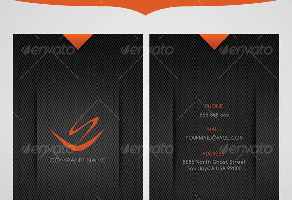 Modern Colors Business Card - 4 Different Colors