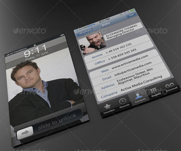 Phone Business Card