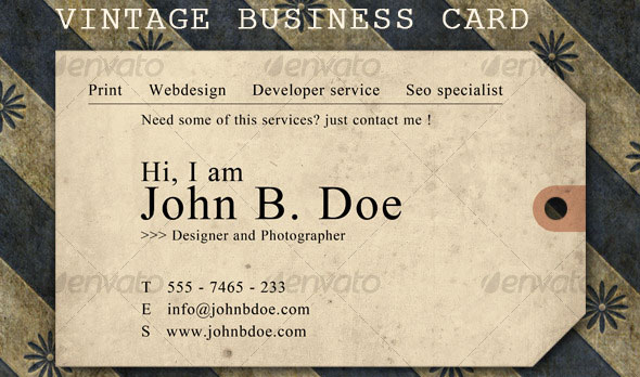 45 high quality personal business card templates business card vintage ticket business card flashek Images