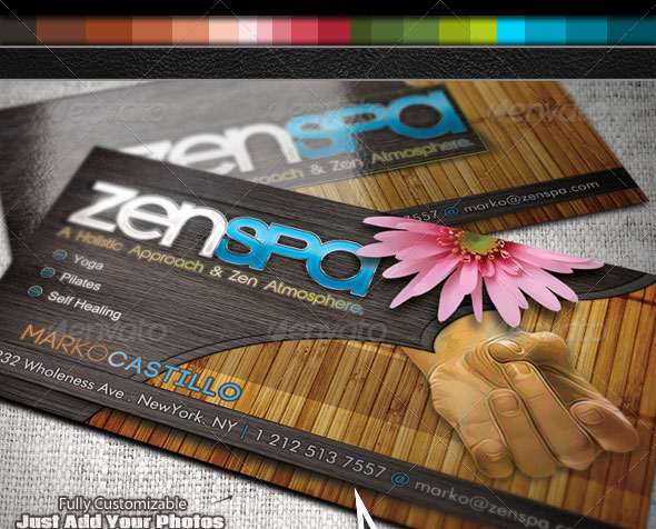 Zen Spa - Business Card Set