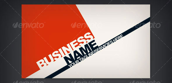 Triad Business Card Template