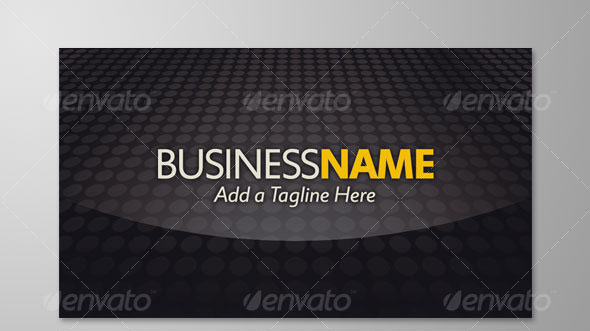 Dark Gloss Business Card