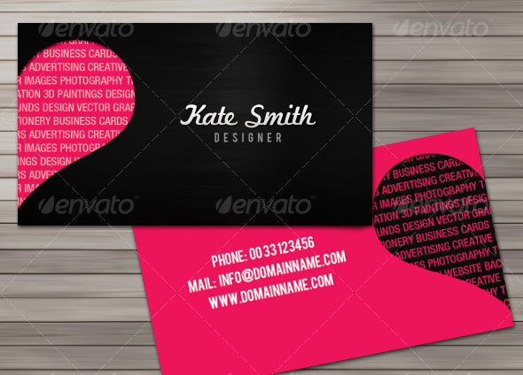 design love business cards 2 sides