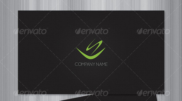 Stylish Black Business Card