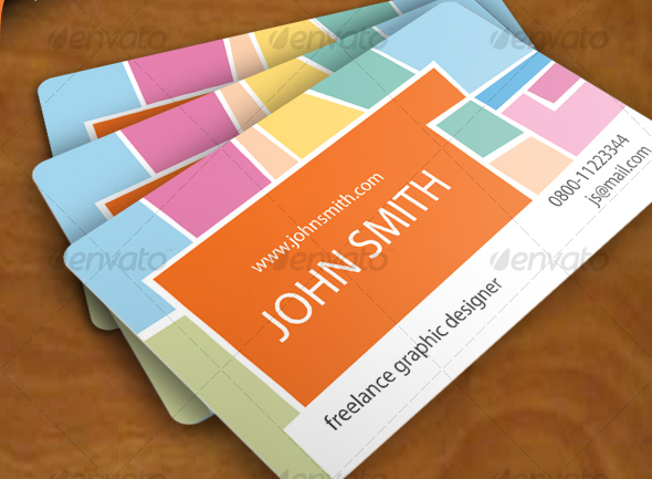 Designer Business Card, Vector