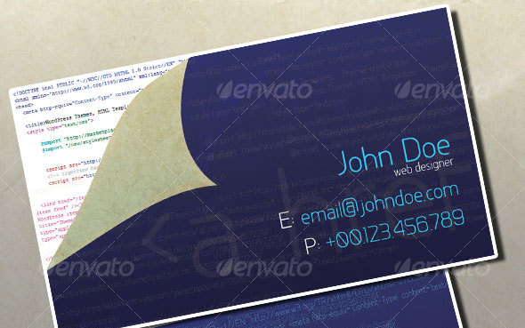 45 high quality personal business card templates business card web designer business card reheart Gallery