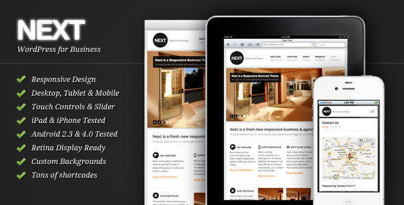 Next - Responsive Business WordPress Theme