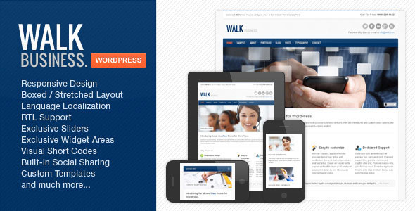 Walk - Responsive Business WordPress Theme