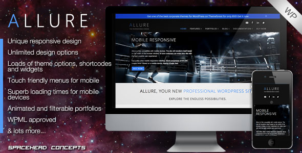 Allure - Professional Responsive WordPress Theme