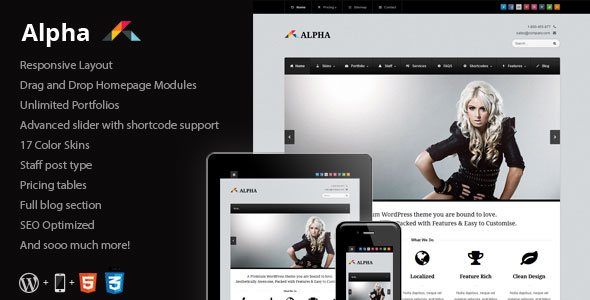 Alpha - Responsive Business WordPress Theme