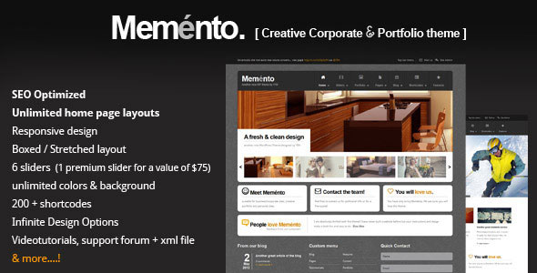 Meménto - A Flexible Corporate WordPress Theme