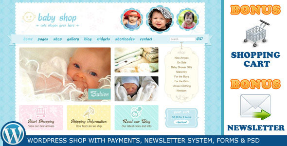 Cute & Sweet - WordPress Shop & Newsletter