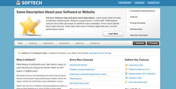 Softech - Software and Hosting Template