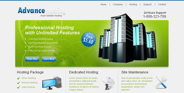hosting website template nulled graphics