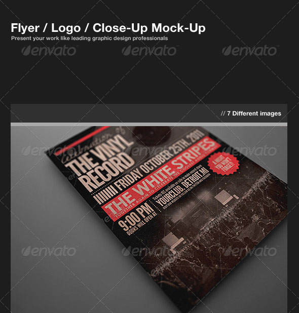 Flyer / Logo / Close-Up Mock-Up