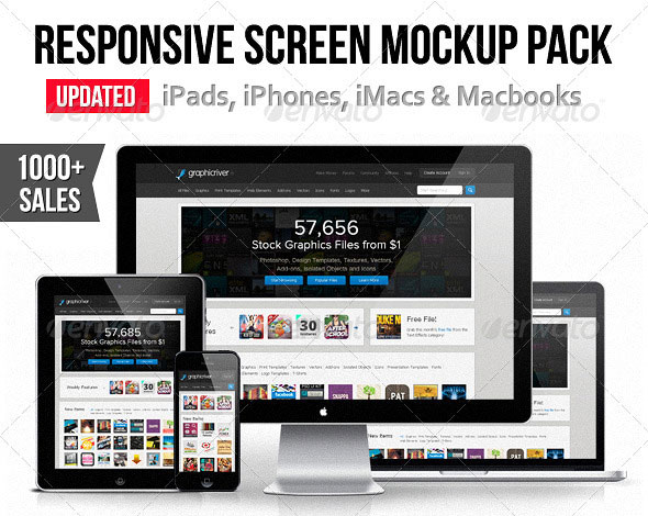 Responsive Screen Mockup Pack