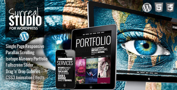 50 Creative Parallax WordPress Themes 2013