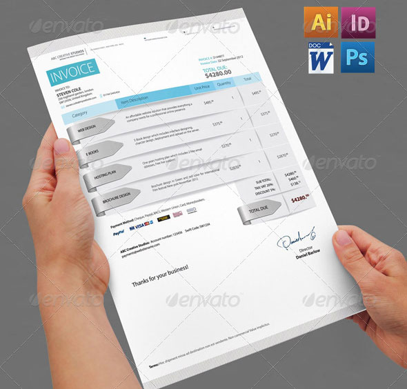 Terms And Conditions For Payment Of Invoices Best Invoice  Proposal Templates  Indesign  Idesignow Avis Rental Car Receipt Pdf with Chick Fil A Receipt Excel Professional Invoice Pack Sample Of Acknowledgement Receipt