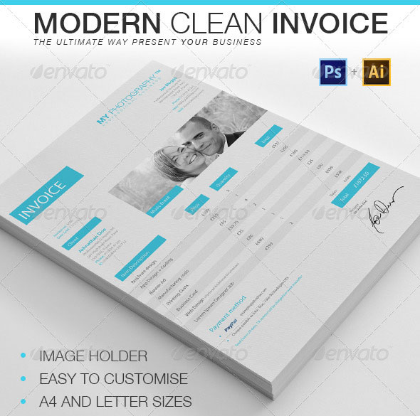 Modern Clean Invoice