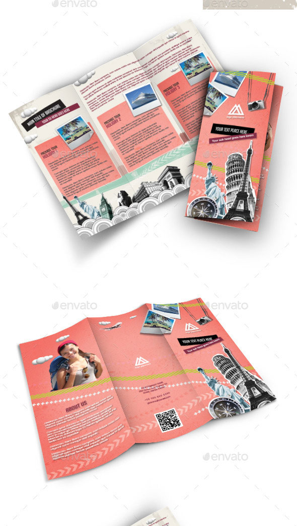 Retro Style brochure for Travel Company