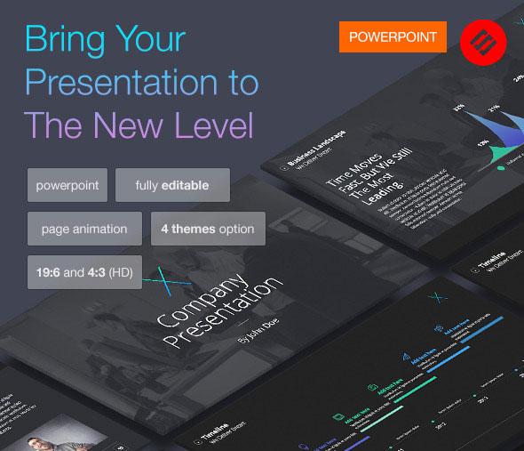 The X-note (Volume 2) - Powerpoint Template