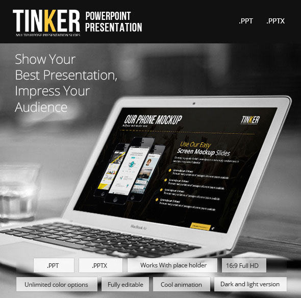 TINKER - Powerpoint Template