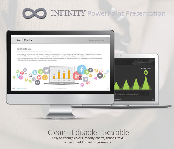 Infinity Colors PowerPoint Presentation Template