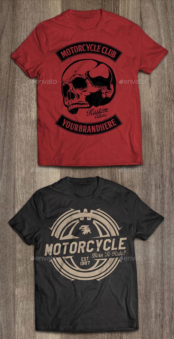 4 Motorcycle T-Shirt Templates