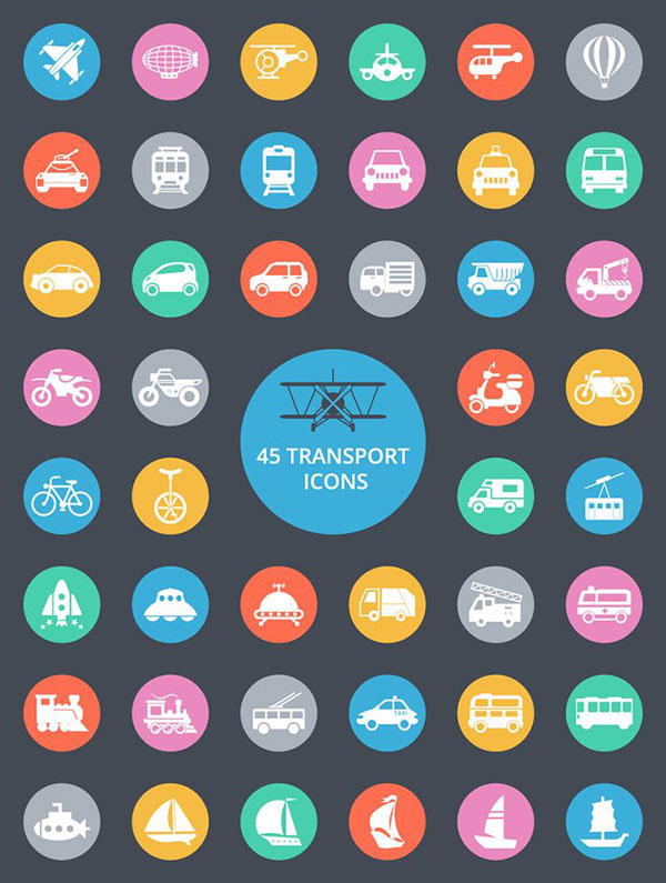 Free Transport Icons File Format AI EPS PSD MB graphicsfuelcom