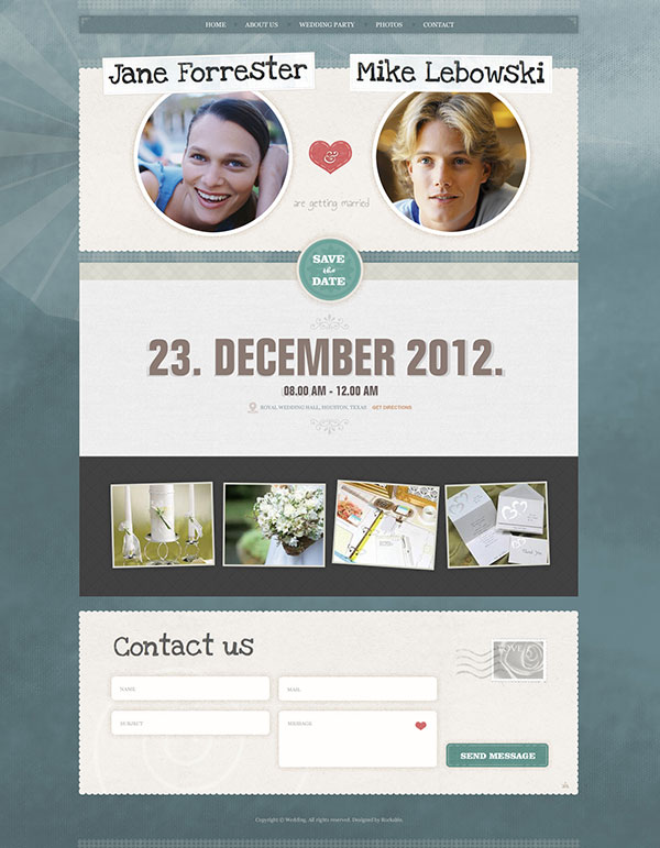 Wedding Invite - WordPress