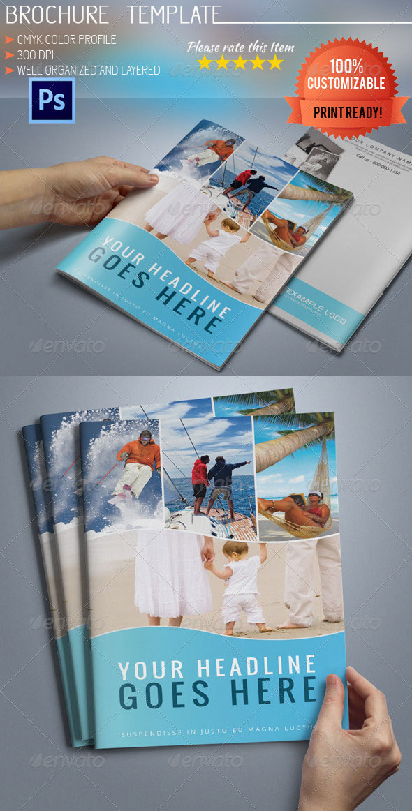 Bi-Fold A5 Travel Brochure