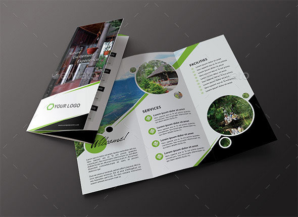 Travel / Hotel Tri Fold Brochure