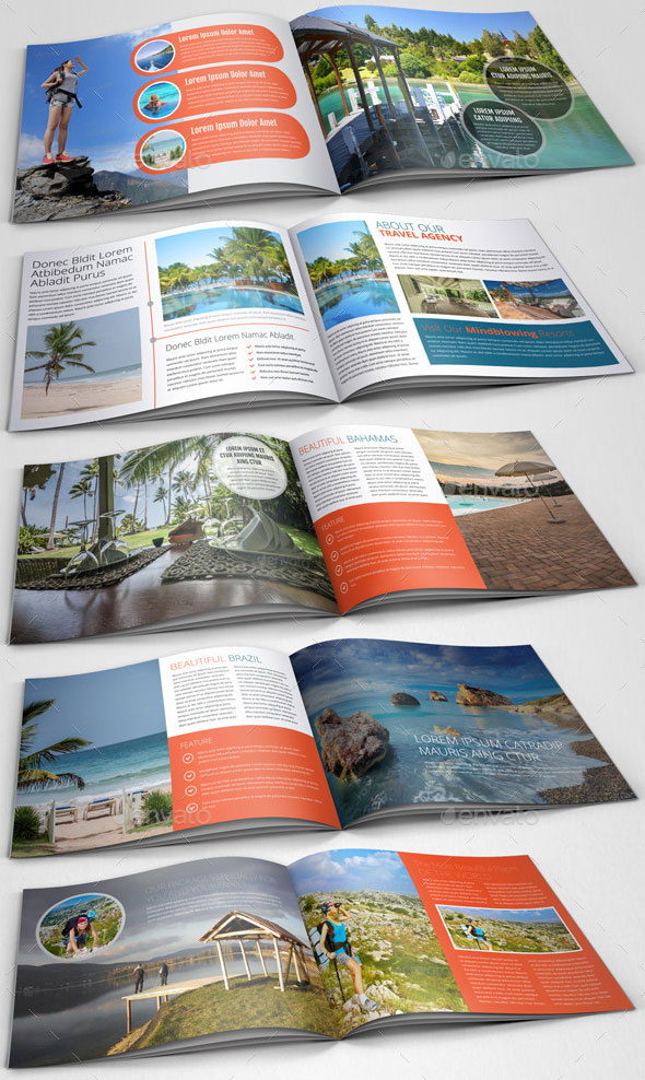 Travel Agency Brochure Catalog Template