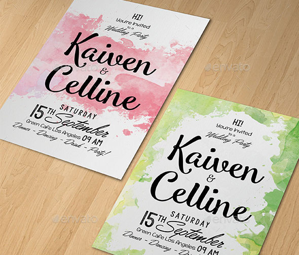 21 Elegant PSD Wedding Invitation Templates Print IDesignow