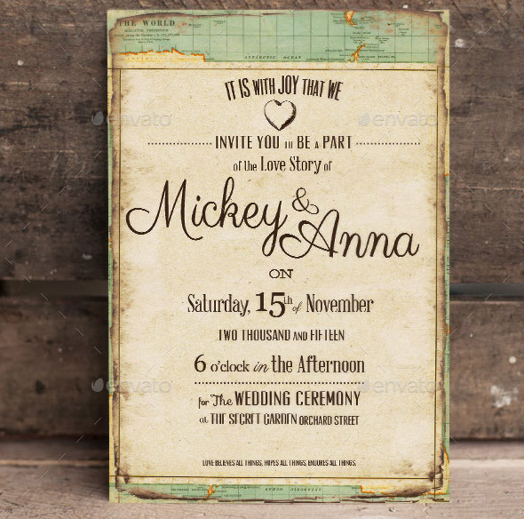 The Journey Wedding Invitation