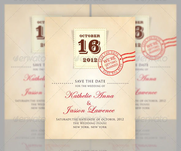 Wedding - Save the Date - Stamp