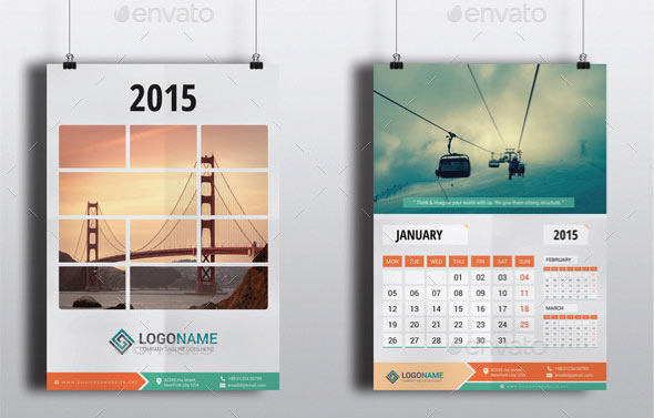 Calendar Design With Photos : Best calendar template designs print idesignow