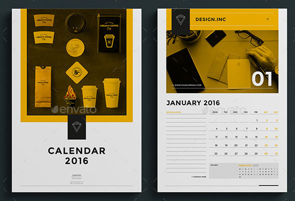 Corporate Calendar Design 2016 : Best calendar template designs print idesignow