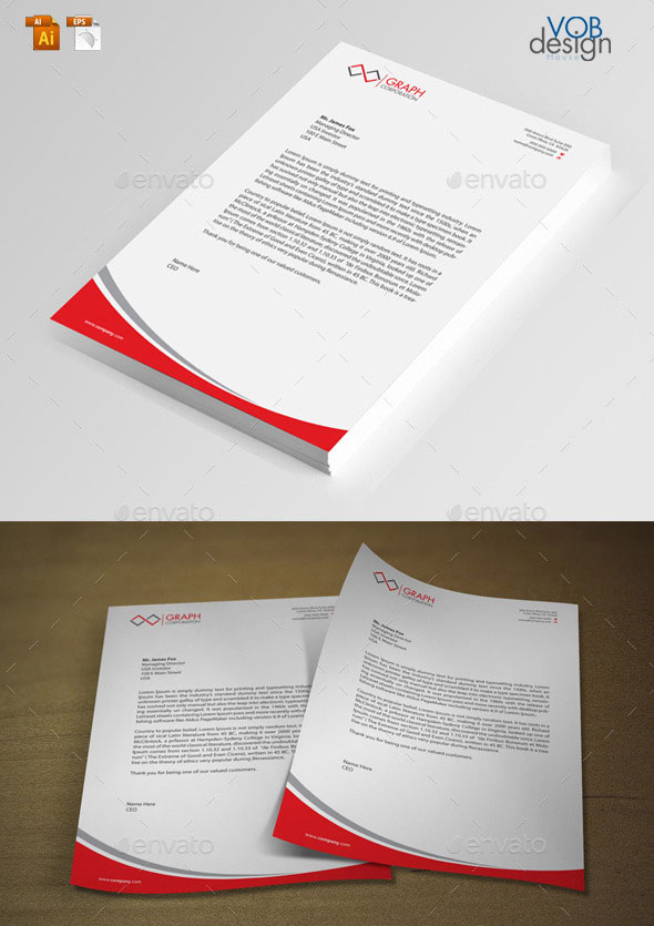 20 best letterhead design templates print idesignow this corporate letterhead is a set of creative and clean letterheads effective in color and layout suitable for any kind of small business accmission Image collections