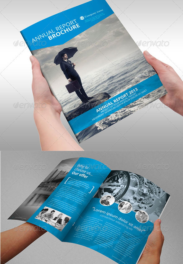 Annual Report Brochure Indesign Template