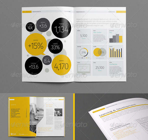 20 Best InDesign Annual Report Templates | print | iDesignow