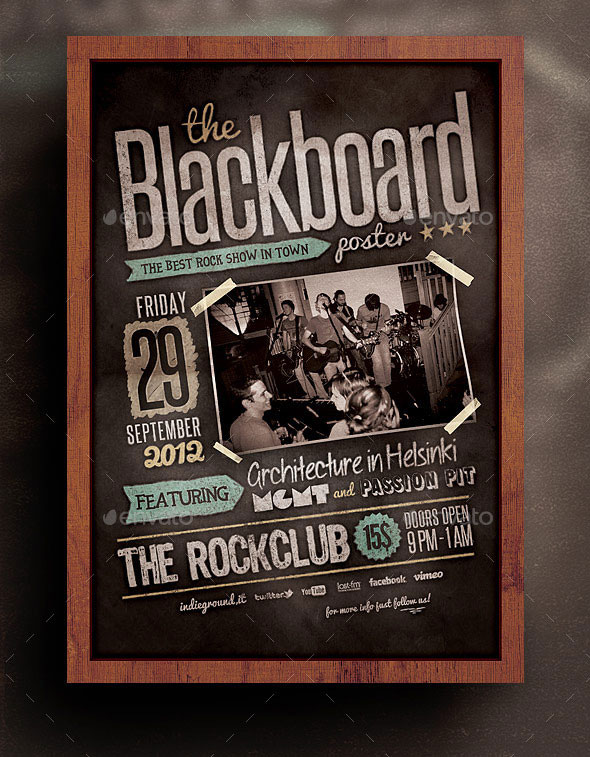 Band Flyer Templates Radioincogible