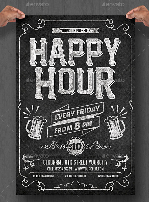 20 Cool Chalkboard Flyer Templates