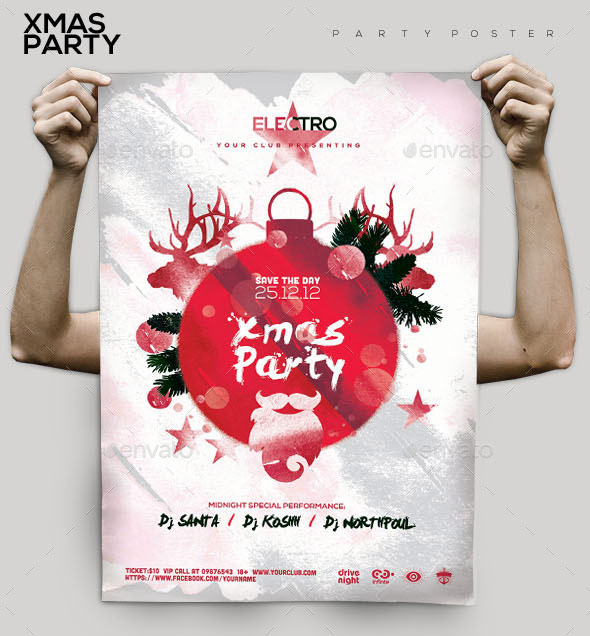 Xmas Night Party Flyer/Poster