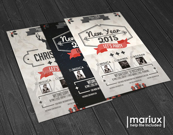 Christmas and New Year Flyer