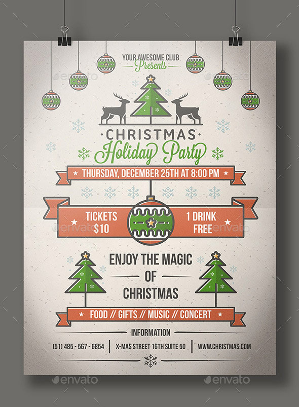 Christmas Party Poster Flyer