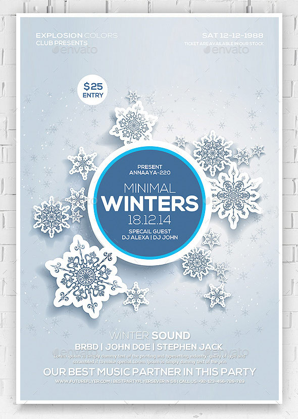 Winter Sound Party Flyer Template