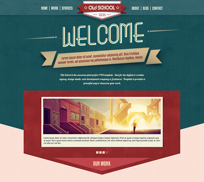 Old School | The One-Page Vintage Portfolio Template
